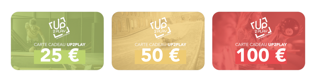 Carte cadeau UP2PLAY